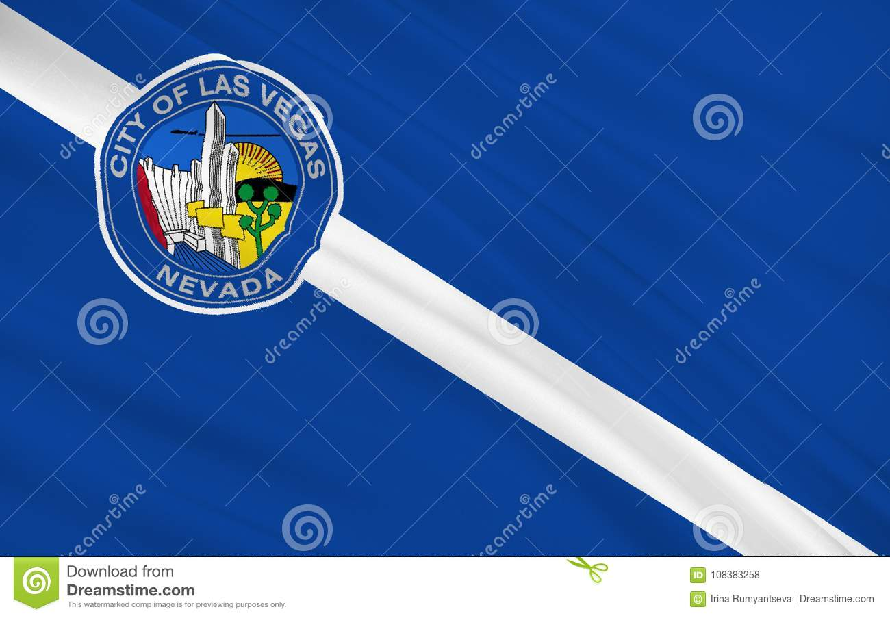 State Flag of Las Vegas - a city in the western United States, i