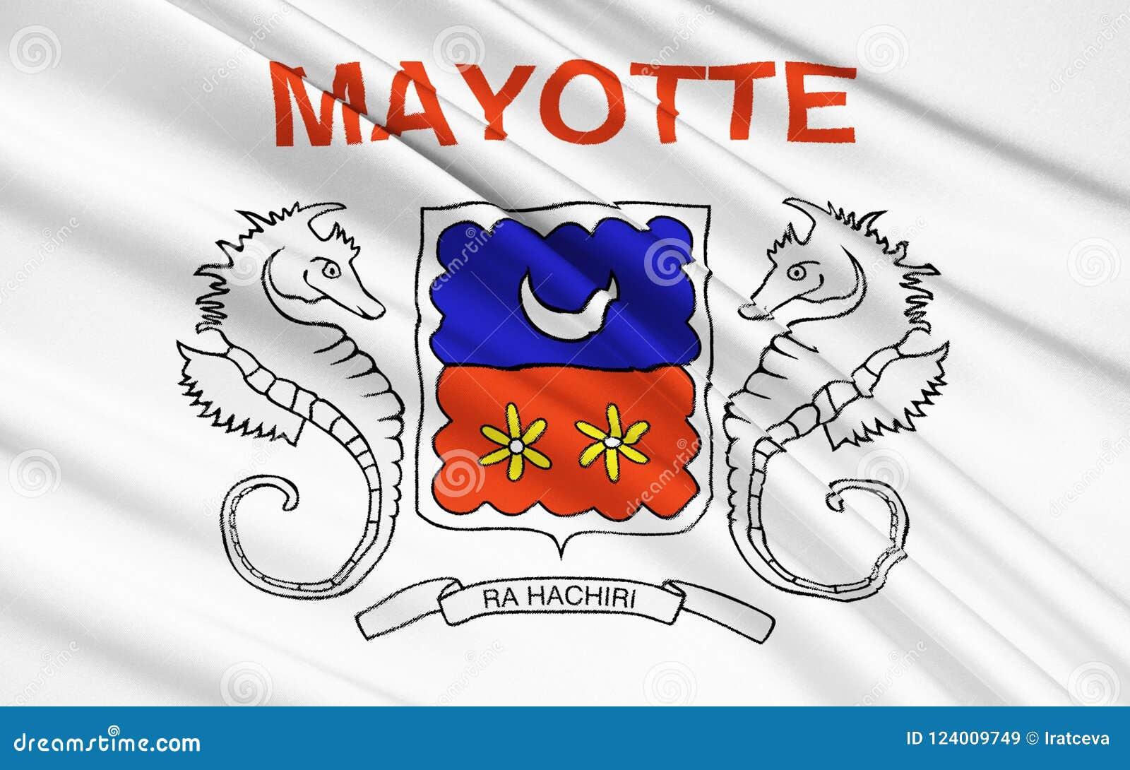 Flag Of Mayotte France Mamoudzou Stock Illustration