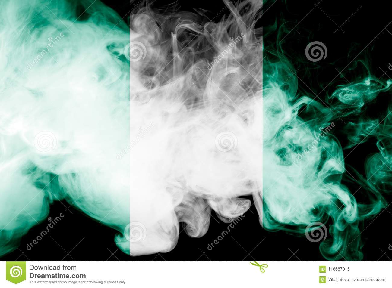 Download National flag of Nigeria stock image. Image of idea - 116687015