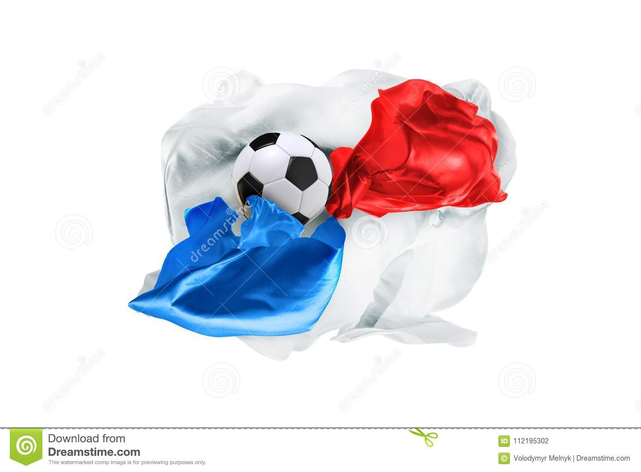 The national flag of Panama. FIFA World Cup. Russia 2018