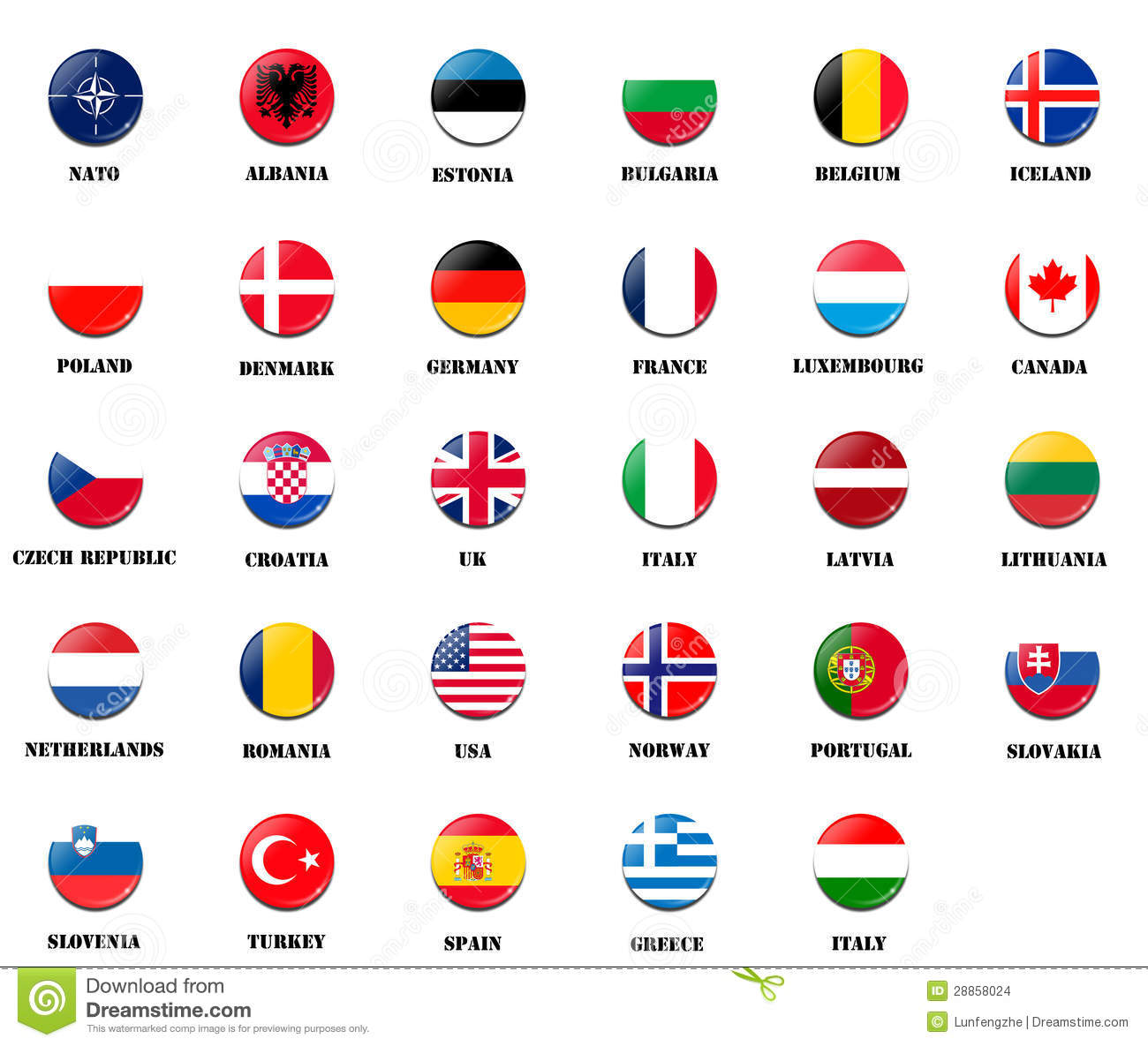 Image result for Picture of NATO Flags