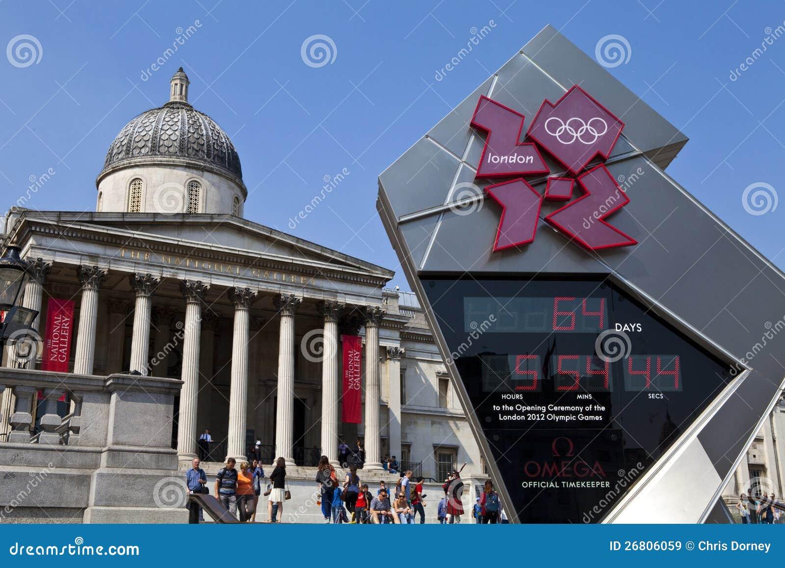National Gallery en de Olympische Klok van de Aftelprocedure
