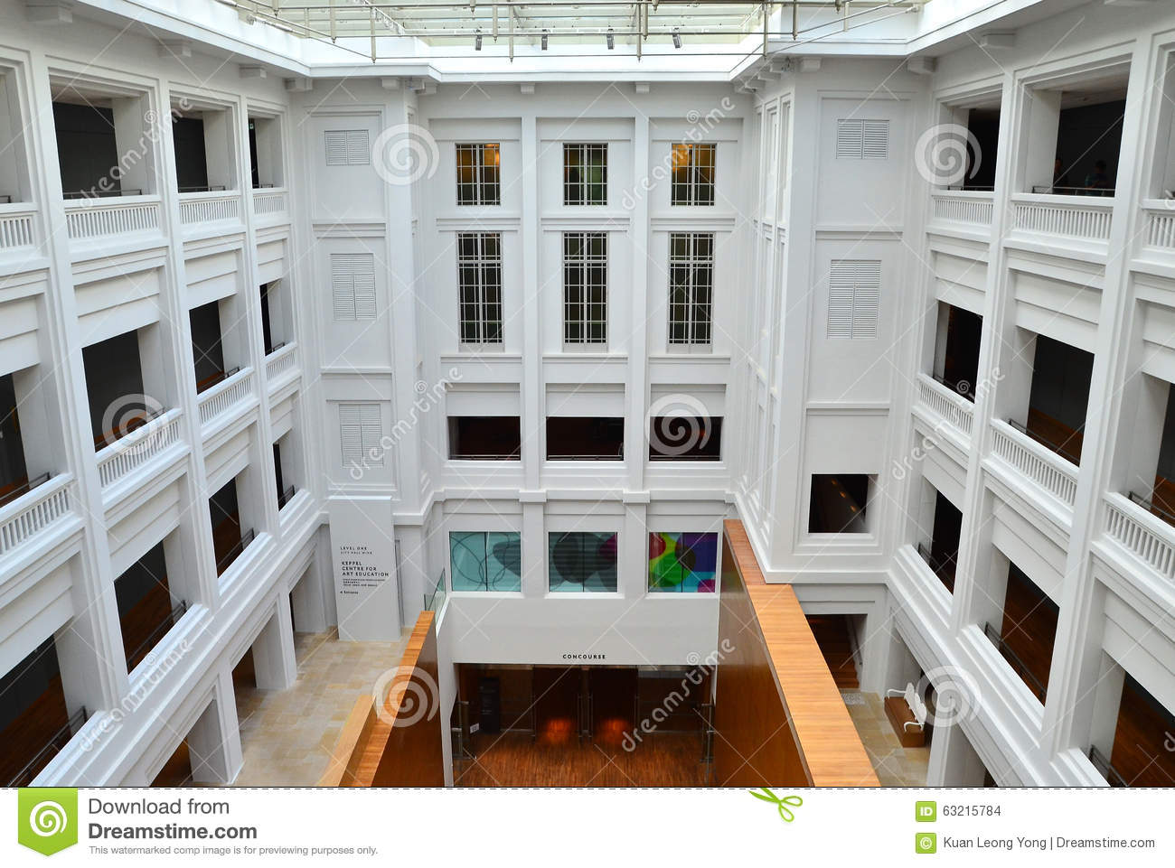 National Gallery Singapore Interior Courtyard Editorial Stock Image