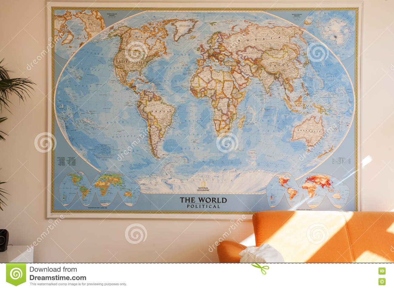 National Geographic World Political Map.National Geographic Wall Map Editorial Photography Image Of Earth