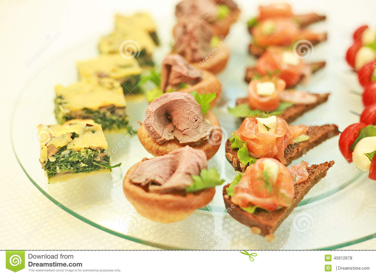 National greek canapes stock photo image 45612678 for Authentic greek cuisine