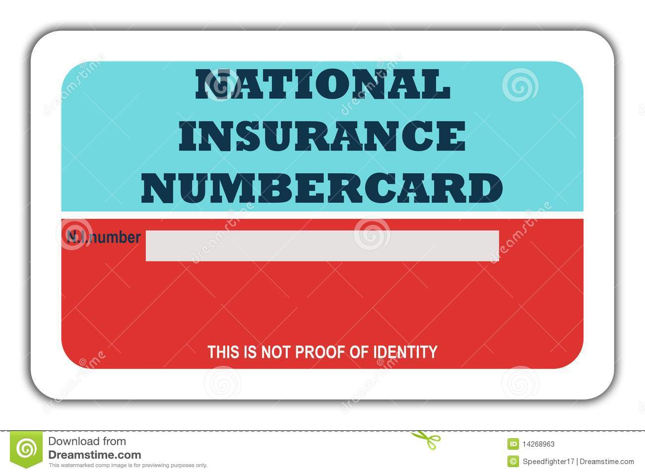 national insurance card template  National Insurance Numbercard Stock Illustration - Illustration of ...