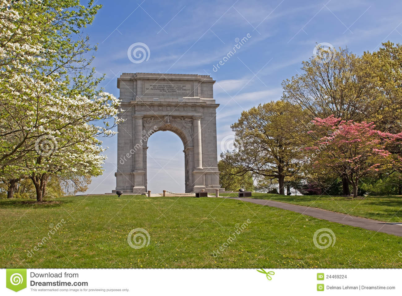National Memorial Arch Stock Images Image 24469224