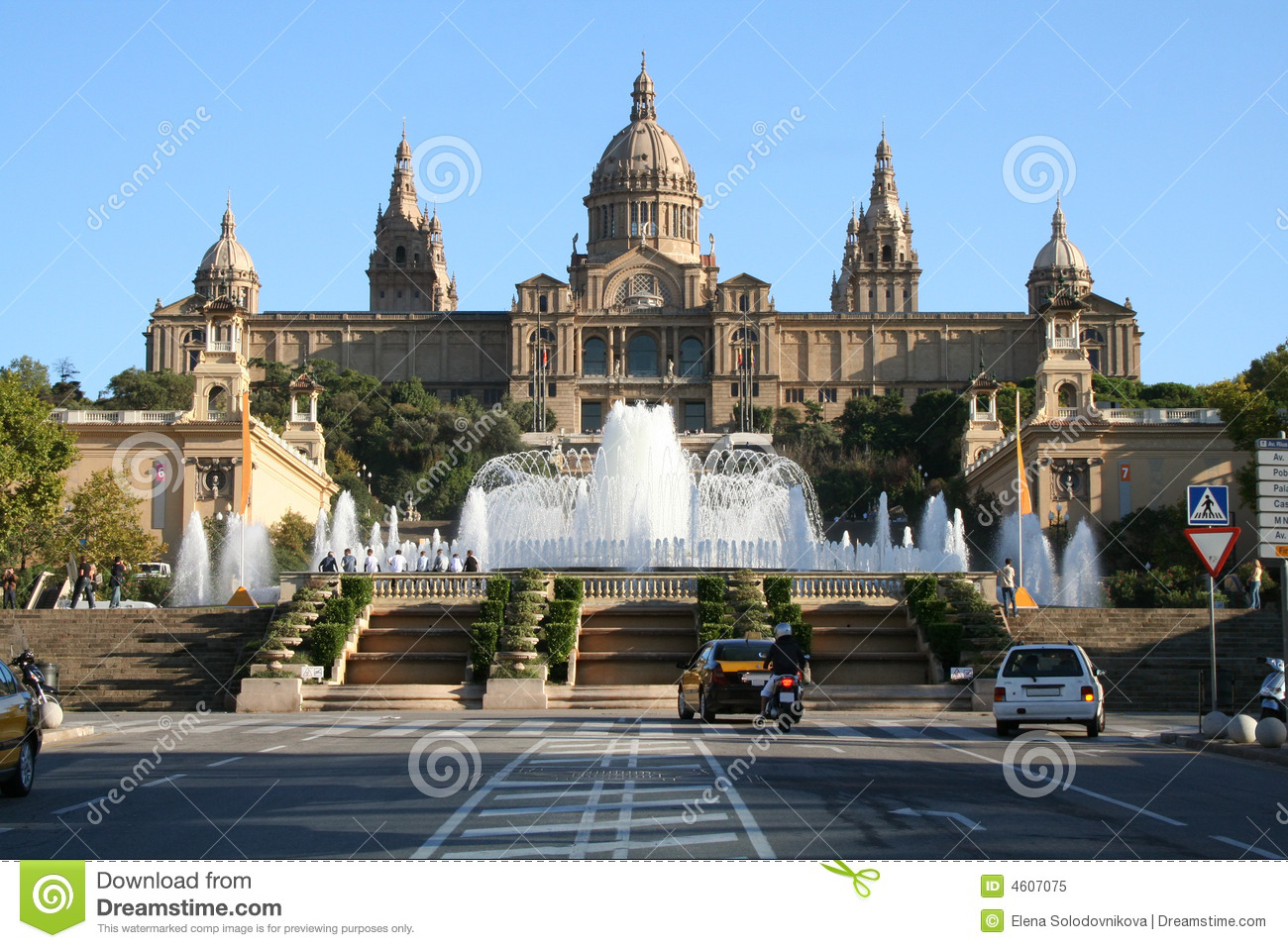 National museum MNAC and Fountain in Barcelona