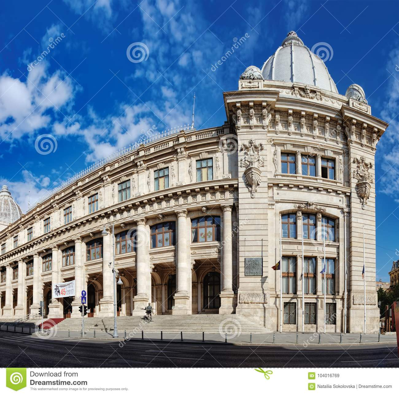 National Museum Of Romanian History In Bucharest Editorial Stock Image Image Of Place Blue 104016769