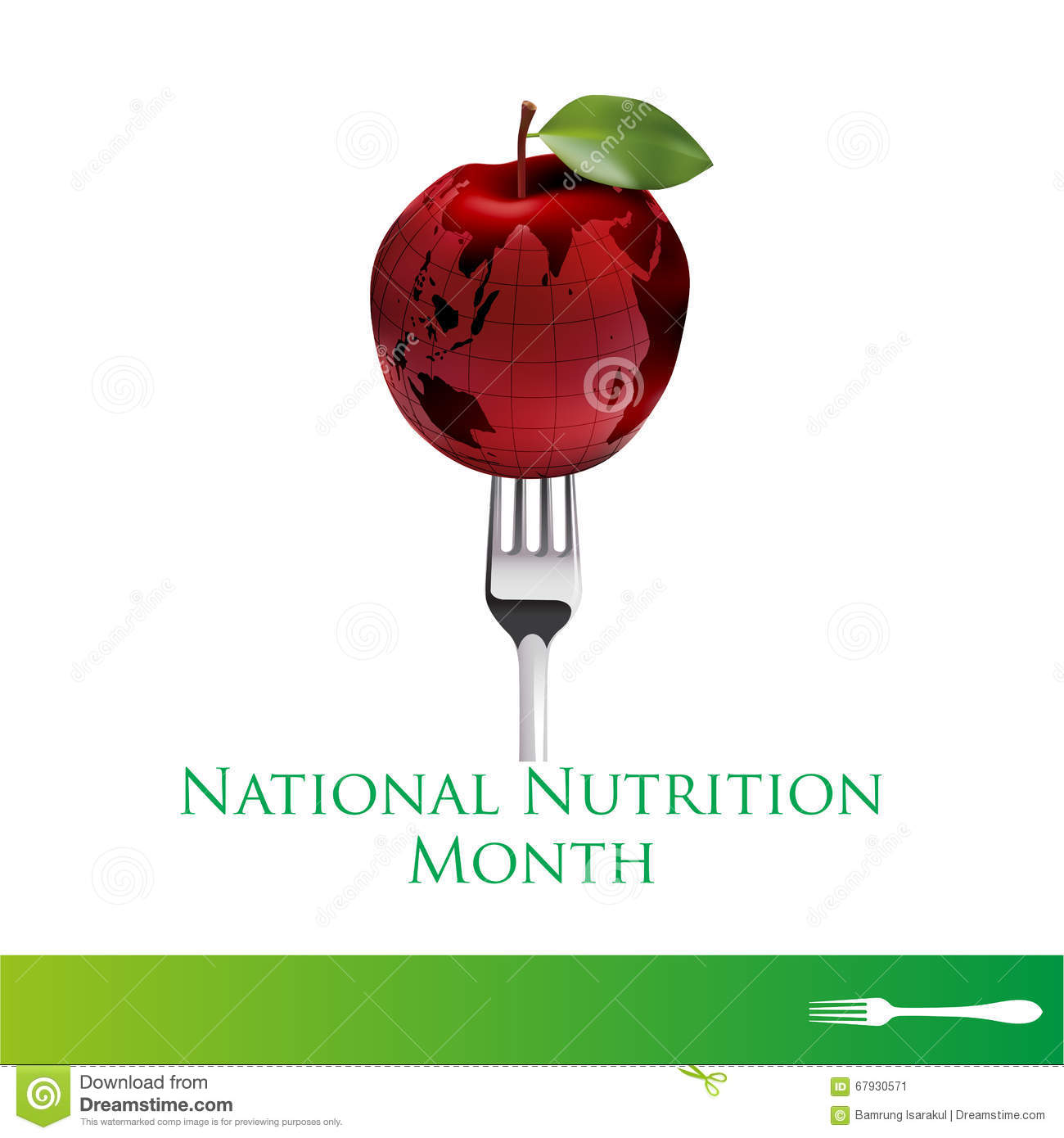 National Nutrition Month Logo And Symbol