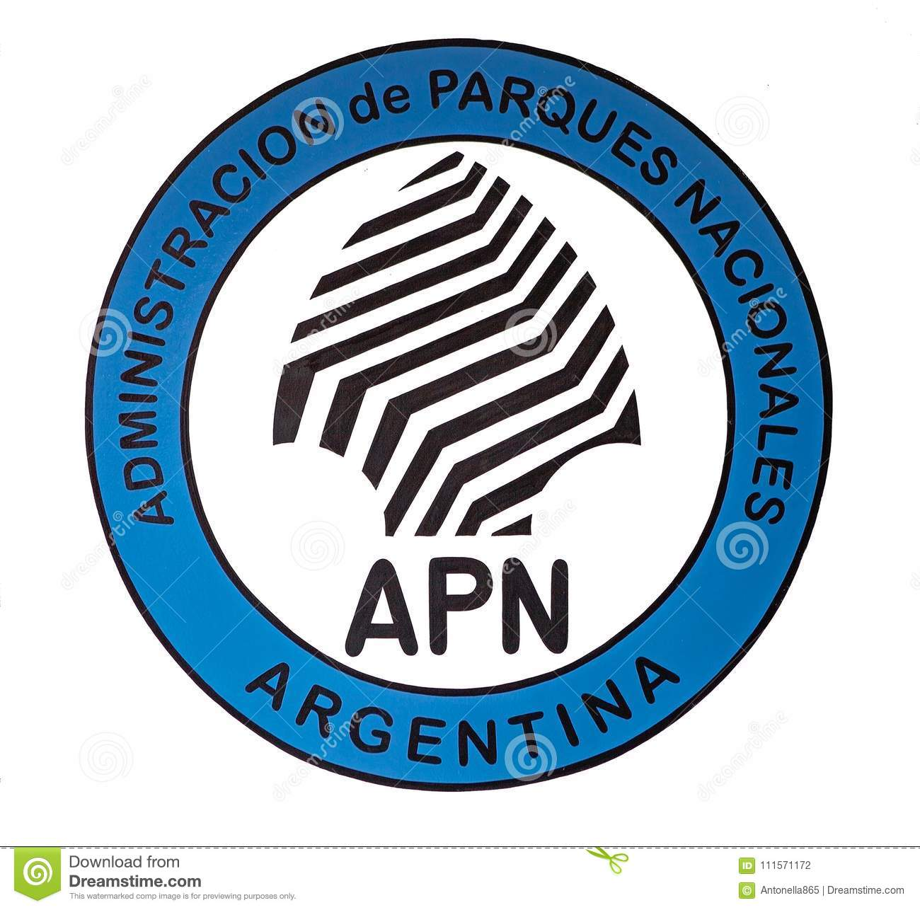 National Park Administration Symbol Argentina Editorial Photography