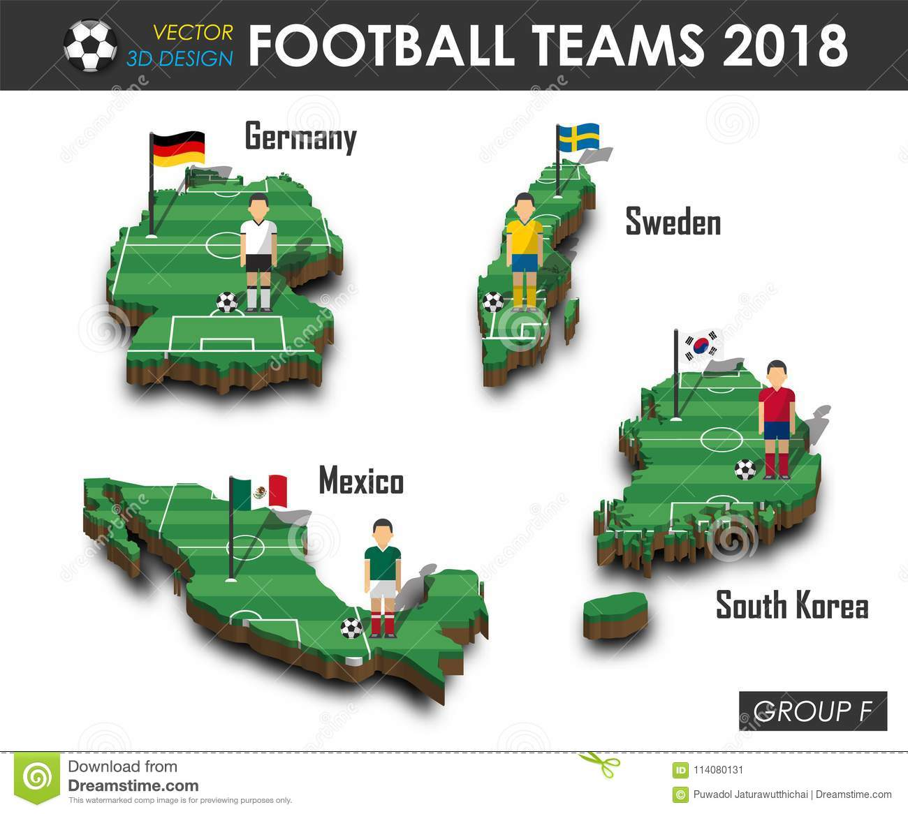 National Soccer Teams 2018 Group F   Football Player And