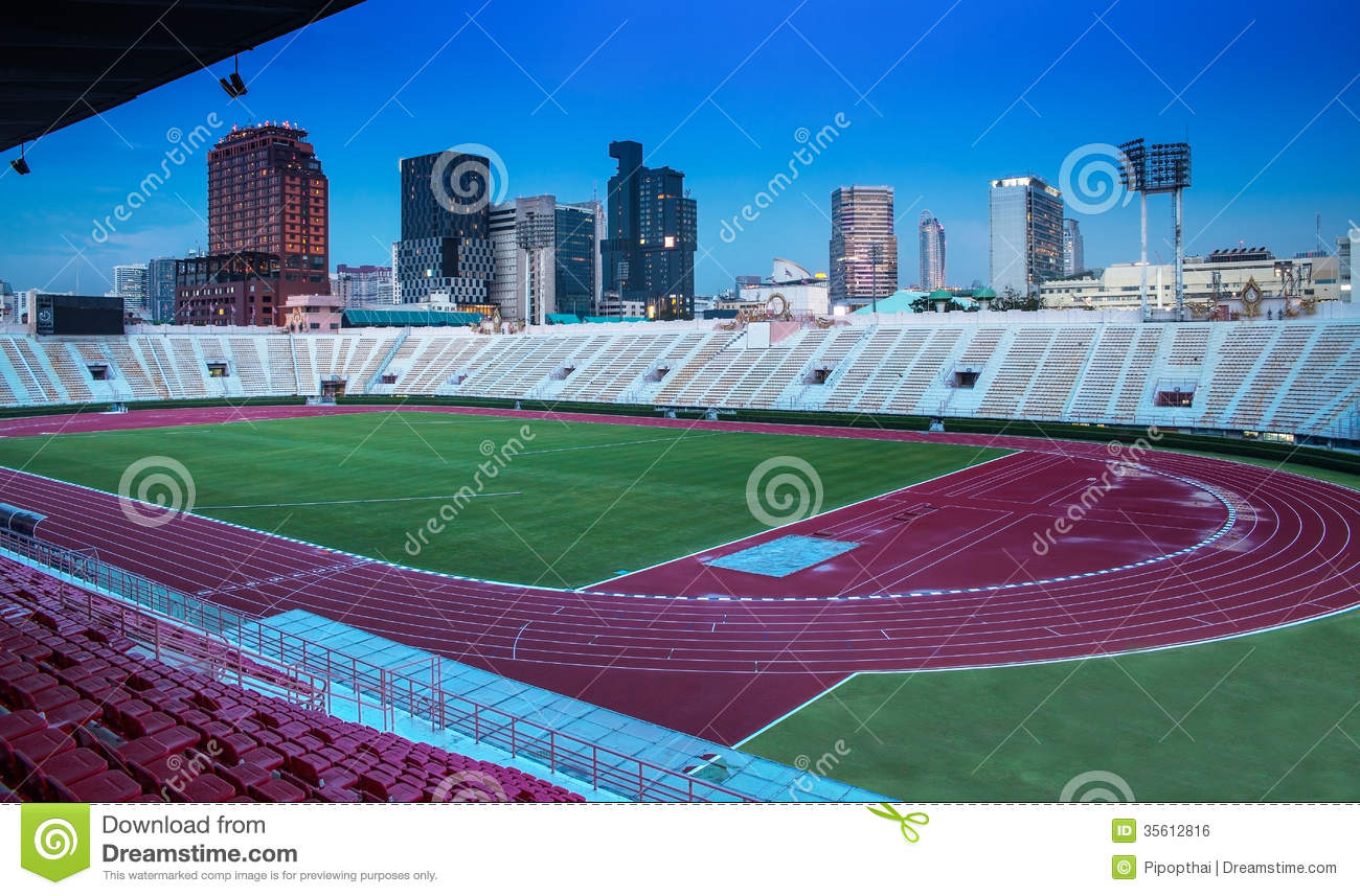 The National Stadium Of Thailand With Modern Building Bangkok Royalty Free Stock Image Image