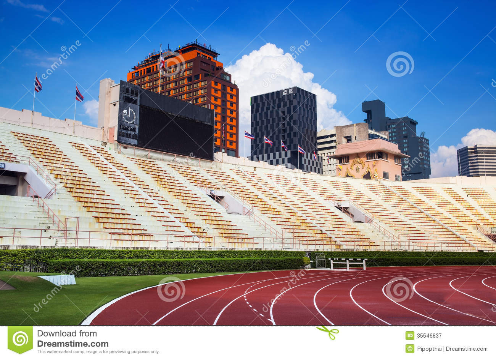 The National Stadium Of Thailand Or Suphachalasai Stadium Bangkok Stock Image Image Of