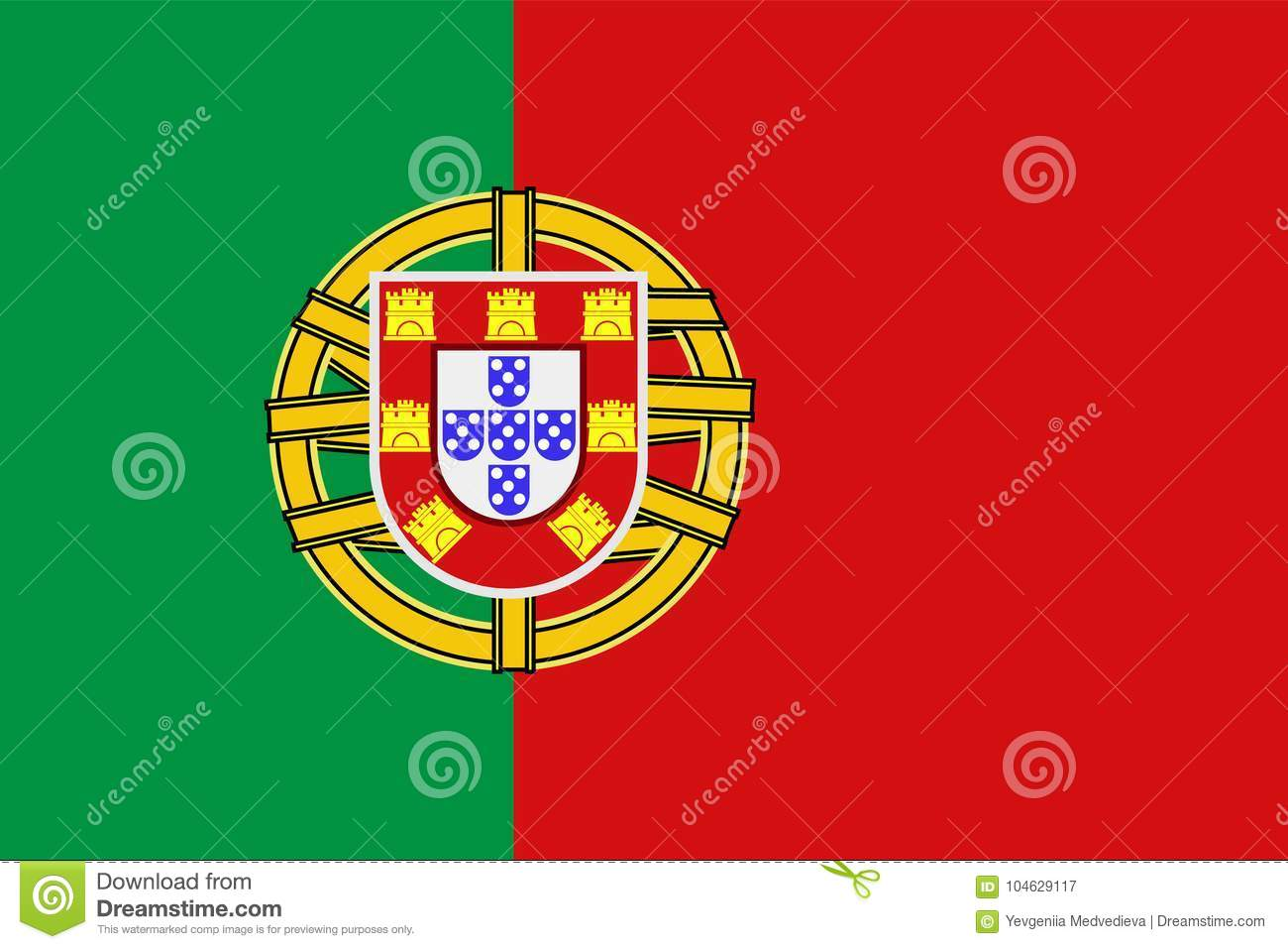 National Symbol Of Portugal Flag Stock Vector Illustration Of Flag