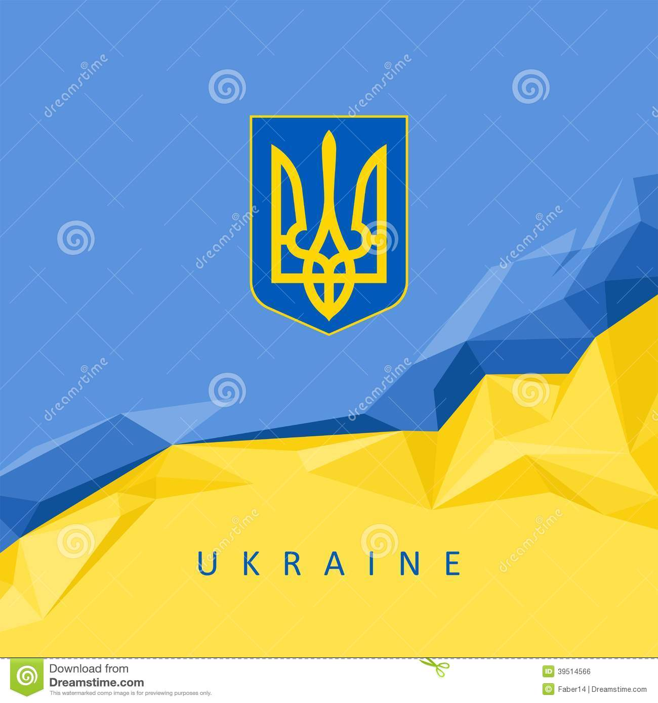 The National Symbol Of The Ukraine Abstract Background Stock