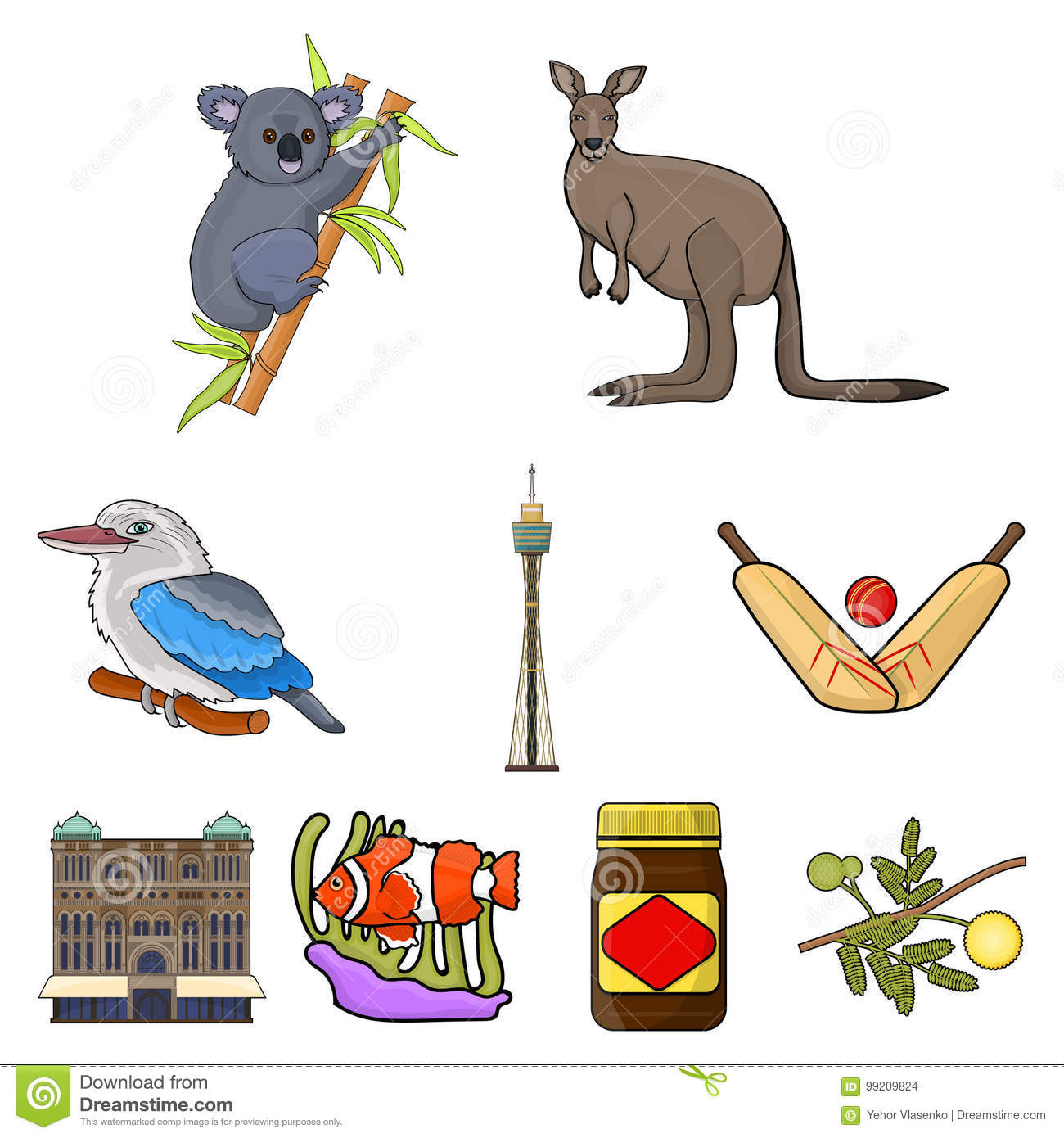 National Symbols Of Australia Web Icon On Australia Themestralia