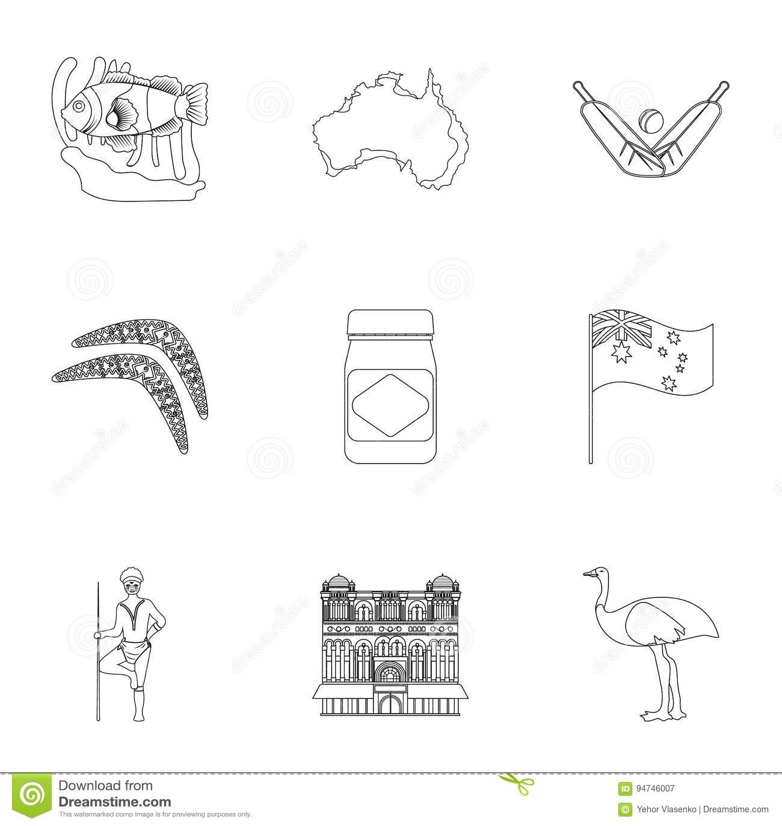 National Symbols Of Australia Web Icon On Australia Themestralia