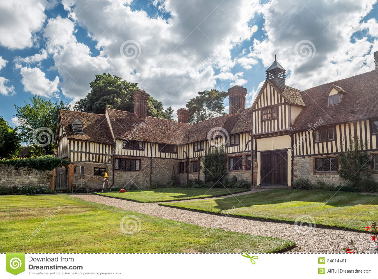 Stock Image National Trust Ightham Mote Medieval Manor House Kent Uk Amazing Th Century Moated Located Miles East Sevenoaks Image34014401 on unique house plans with courtyard