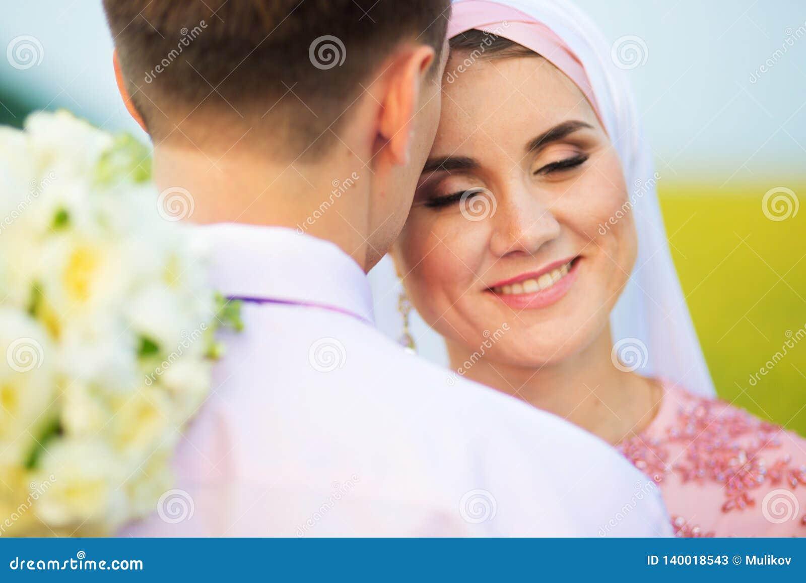 National Wedding  Bride And Groom In Field  Wedding Muslim