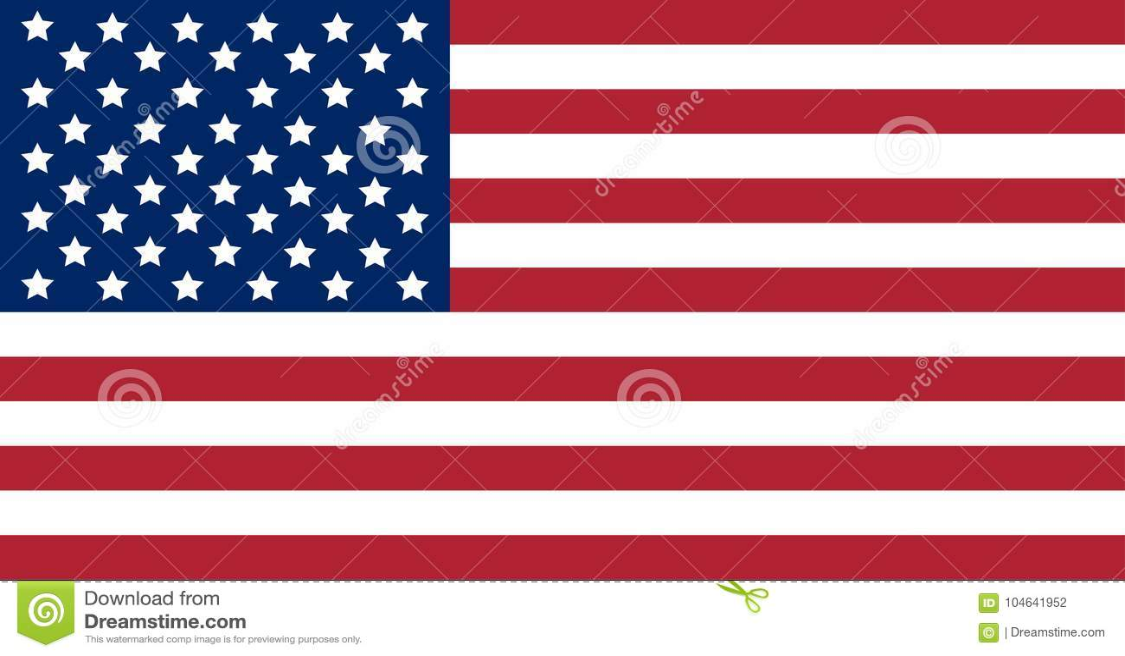 Download Nationale Die Vlag Van De Verenigde Staten Van Amerika Op Witte Achtergrond Worden Geïsoleerd Vector Illustratie - Illustratie bestaande uit land, onafhankelijkheid: 104641952