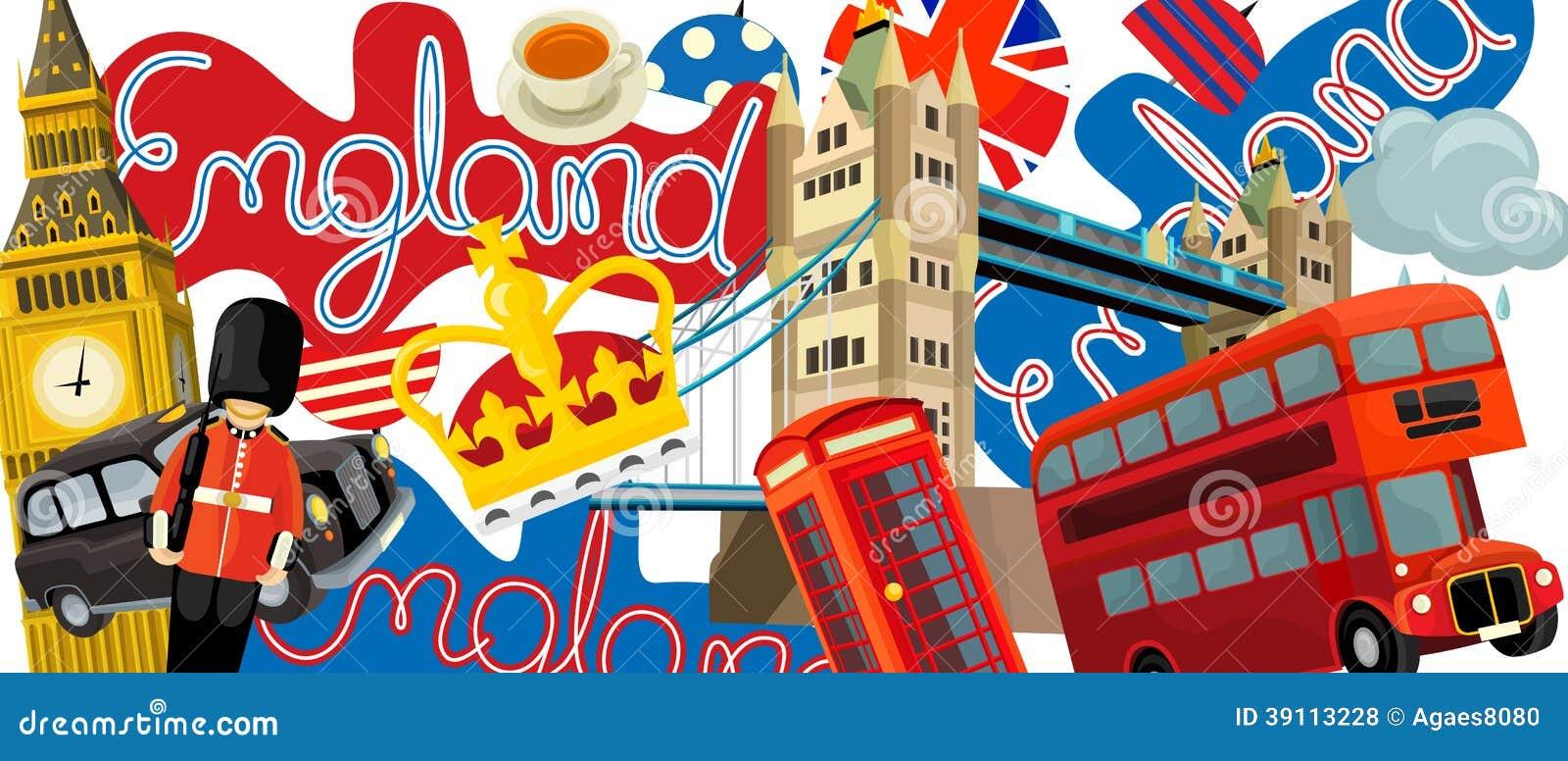 Nationale elementen - illustratie voor de kinderen