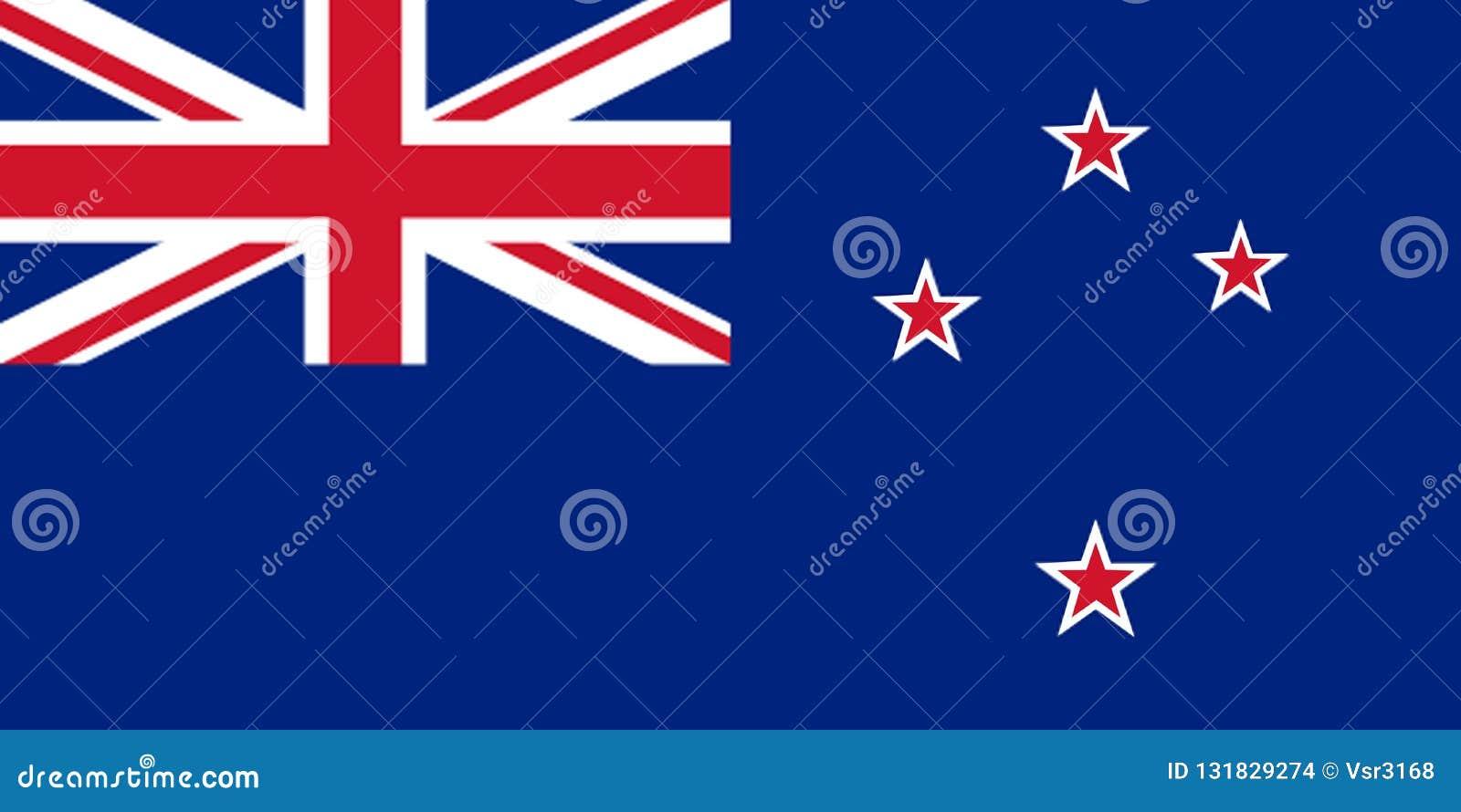Nationale vlag van Nieuw Zeeland Achtergrond met vlag ofNew Zeeland