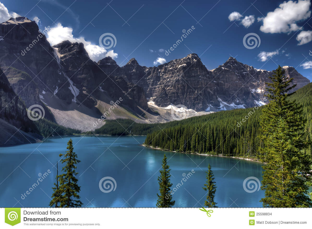 Nationalpark för banff Kanada lakemoraine