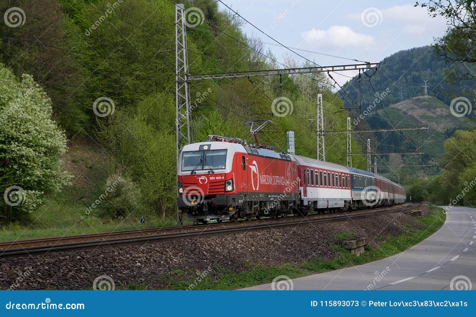 Nationell bärare av slovakiska järnvägar - rörliga Siemens