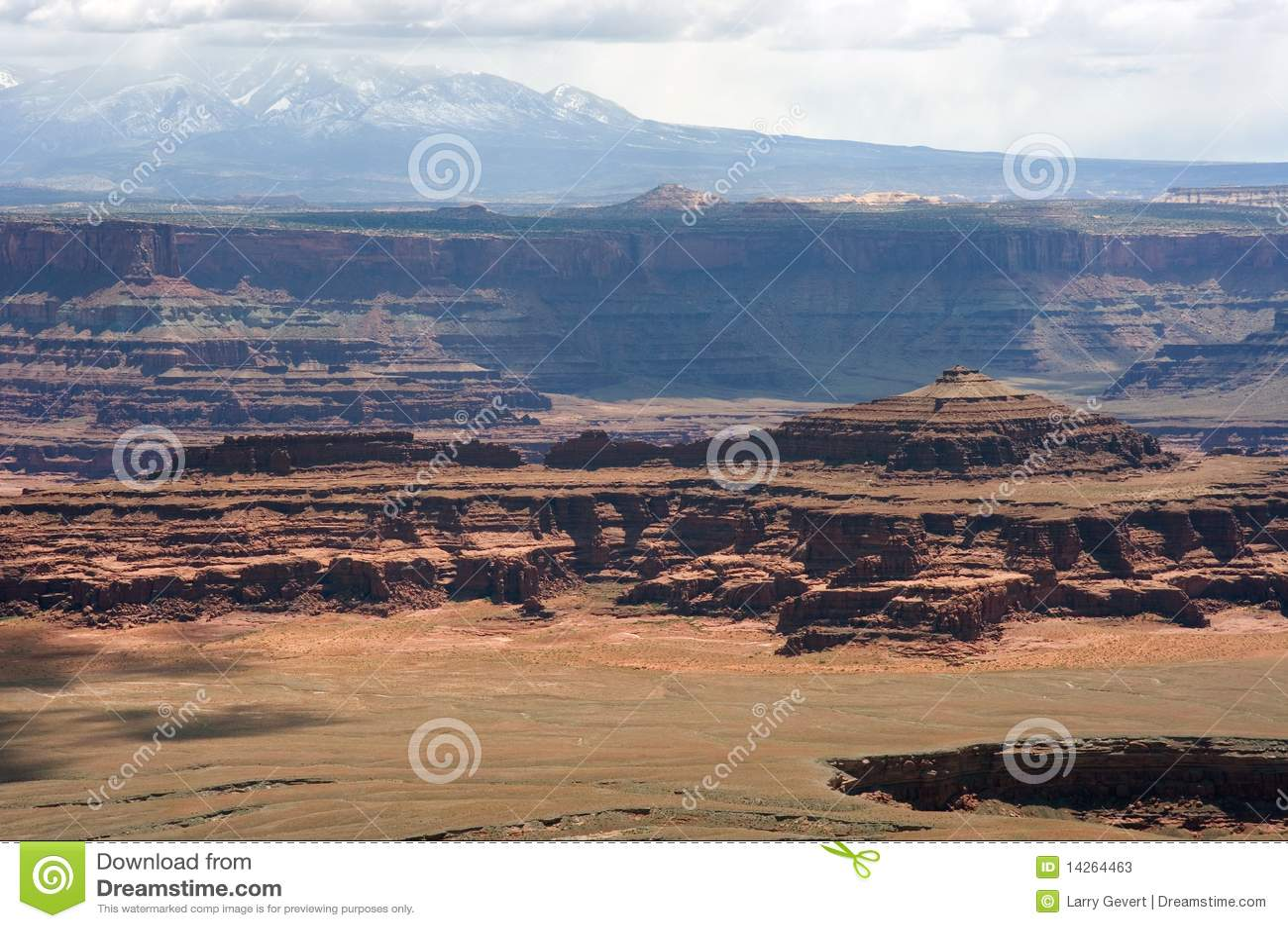 Nationell förbise park för canyonlands