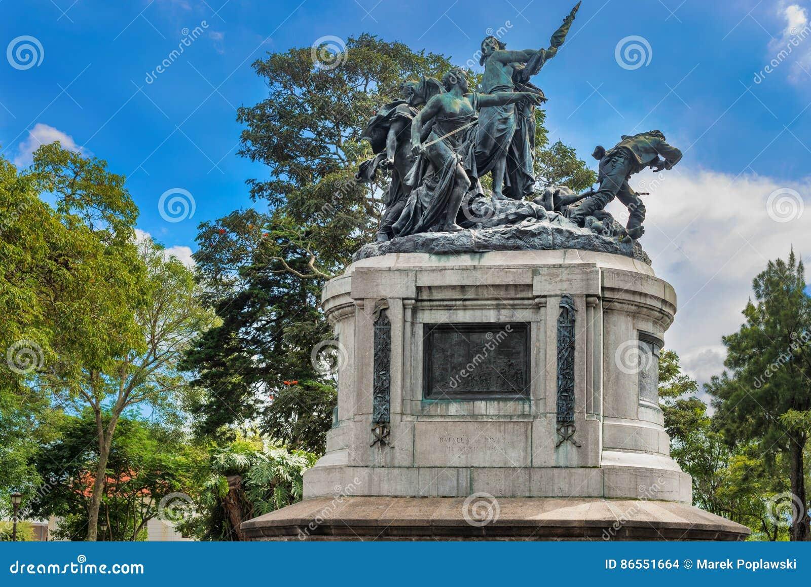 Nationell monument av Costa Rica i nationalpark av San Jose