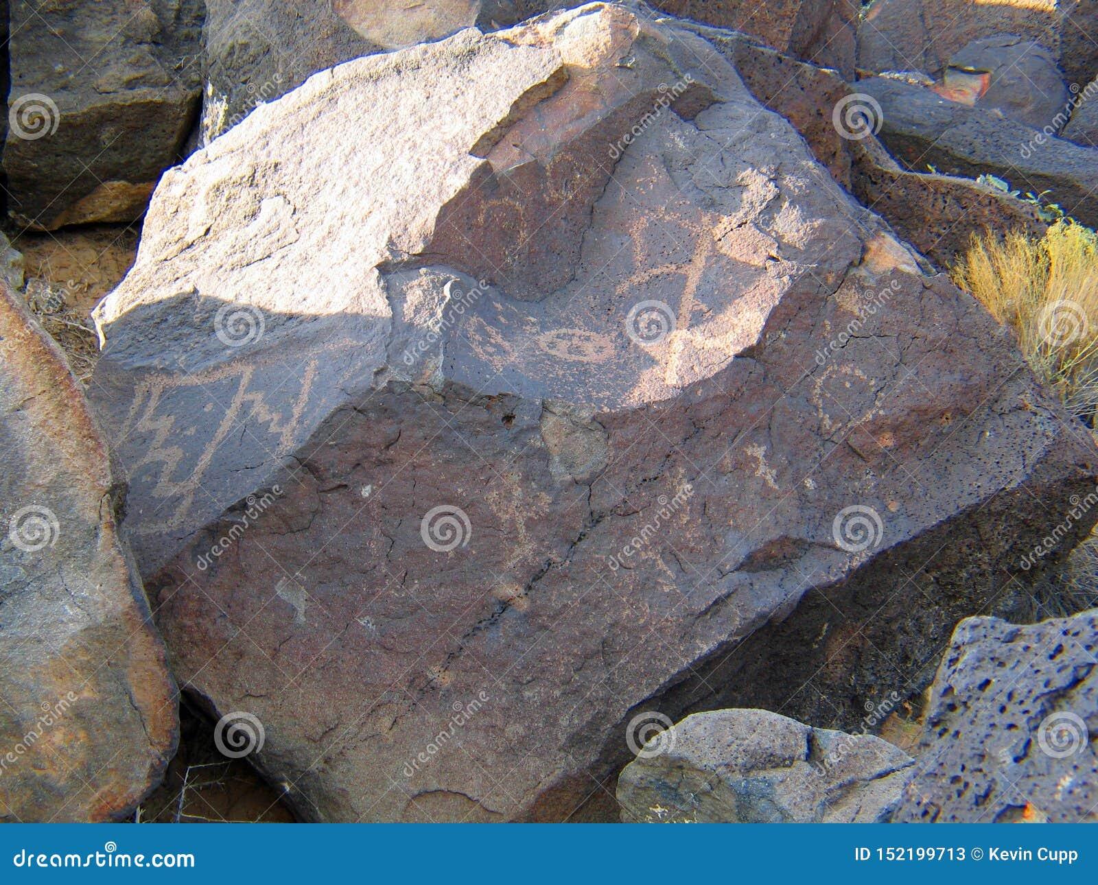 Nationell monument för Petroglyph i nytt - Mexiko