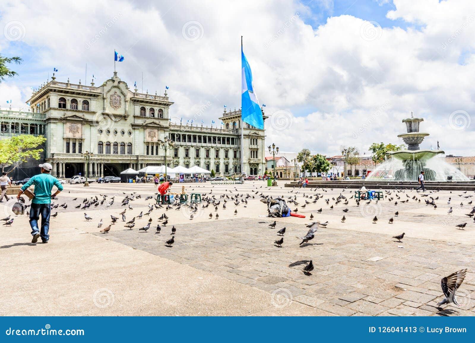 Nationell slott av kultur, Plaza de la Constitucion, Guatemala