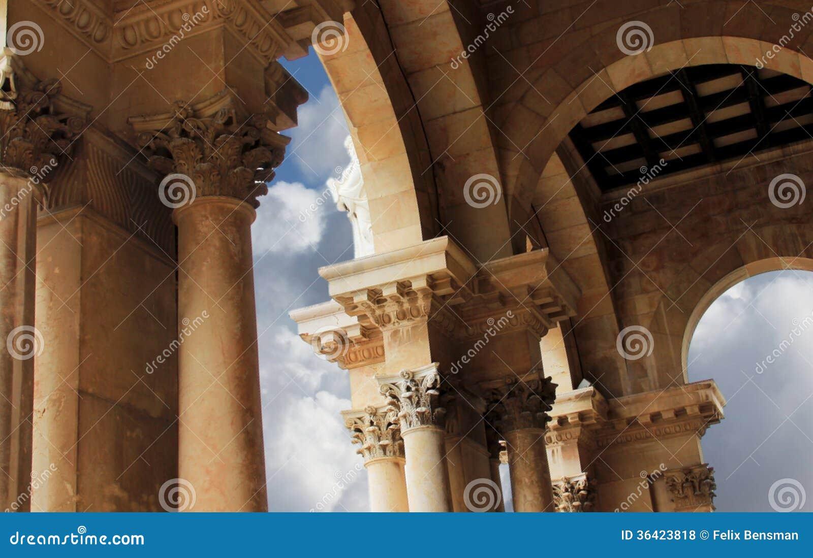 Nationer för kyrka allra. Jerusalem. Israel