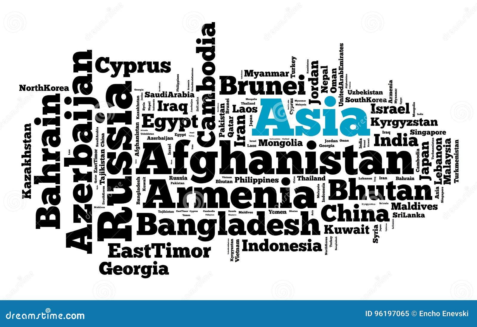 Nationer i Asien