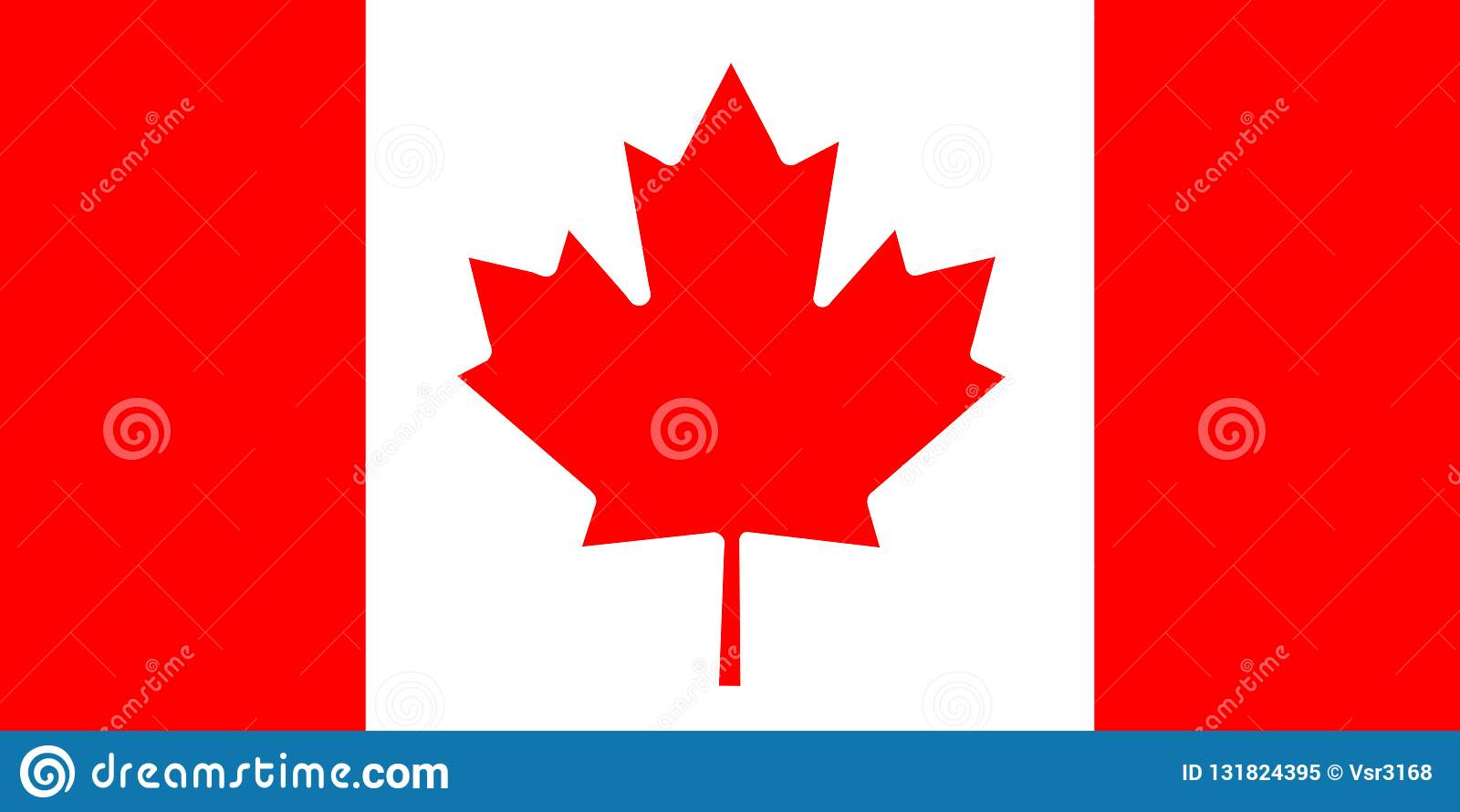 Nationsflagga av Kanada bakgrund för redaktörer och formgivare Nationell ferie