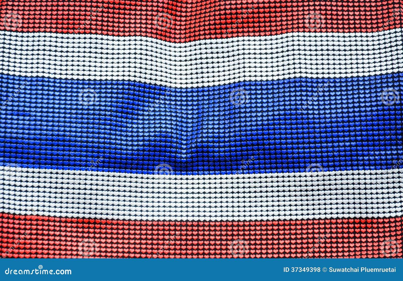 Nationsflagga av Thailand
