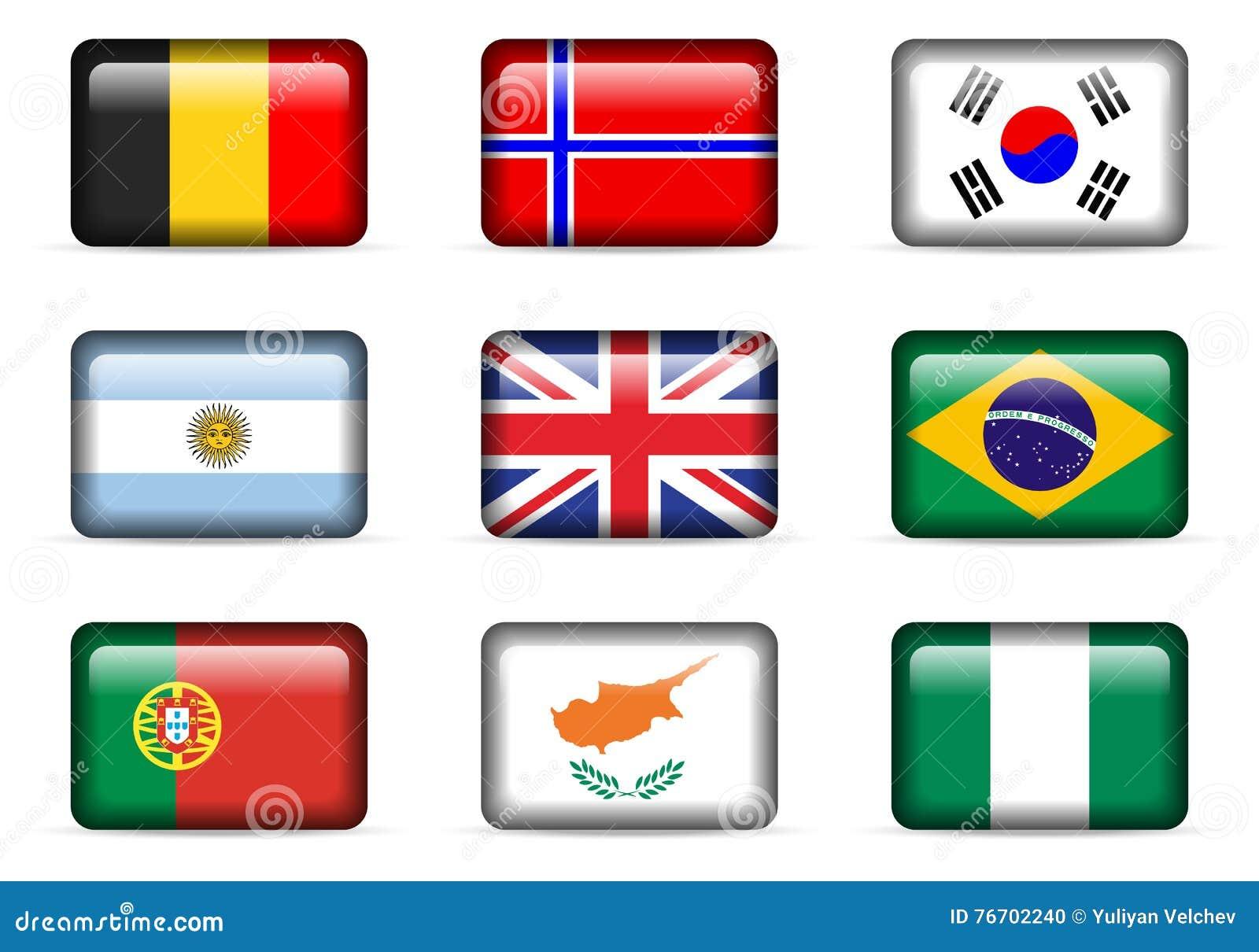 Nationsflaggauppsättning