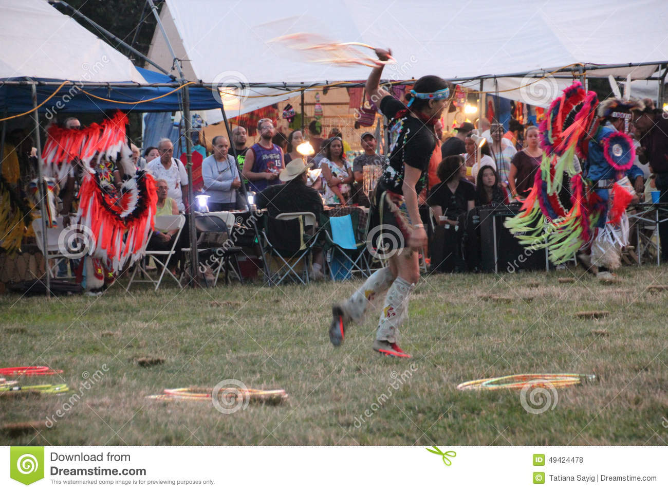 Native American Dancers at pow-wow