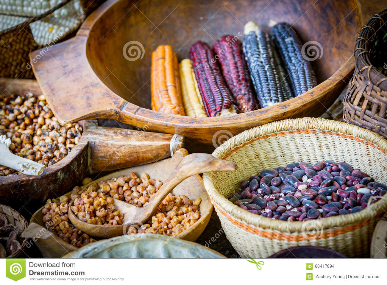 Native american food market stock photo image 60417894 for American indian cuisine