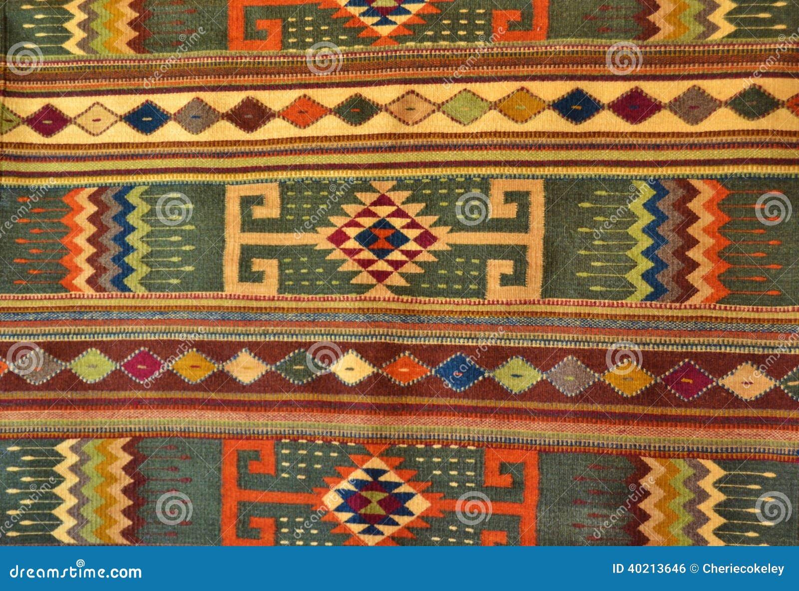 Native American Hand Made Woven Rug Stock Photo Image