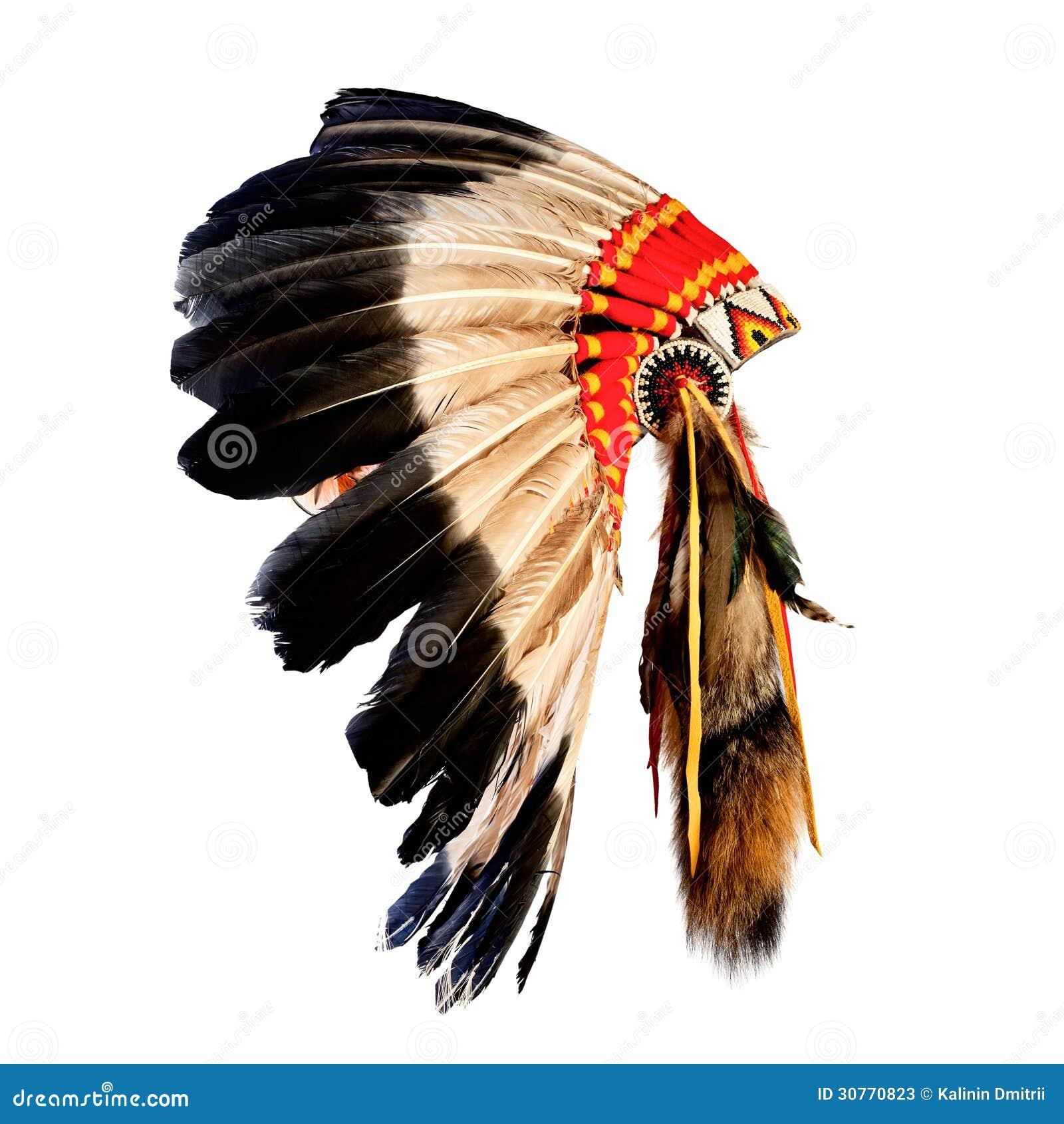 Native American Indian Chief Headdress Stock Image - Image