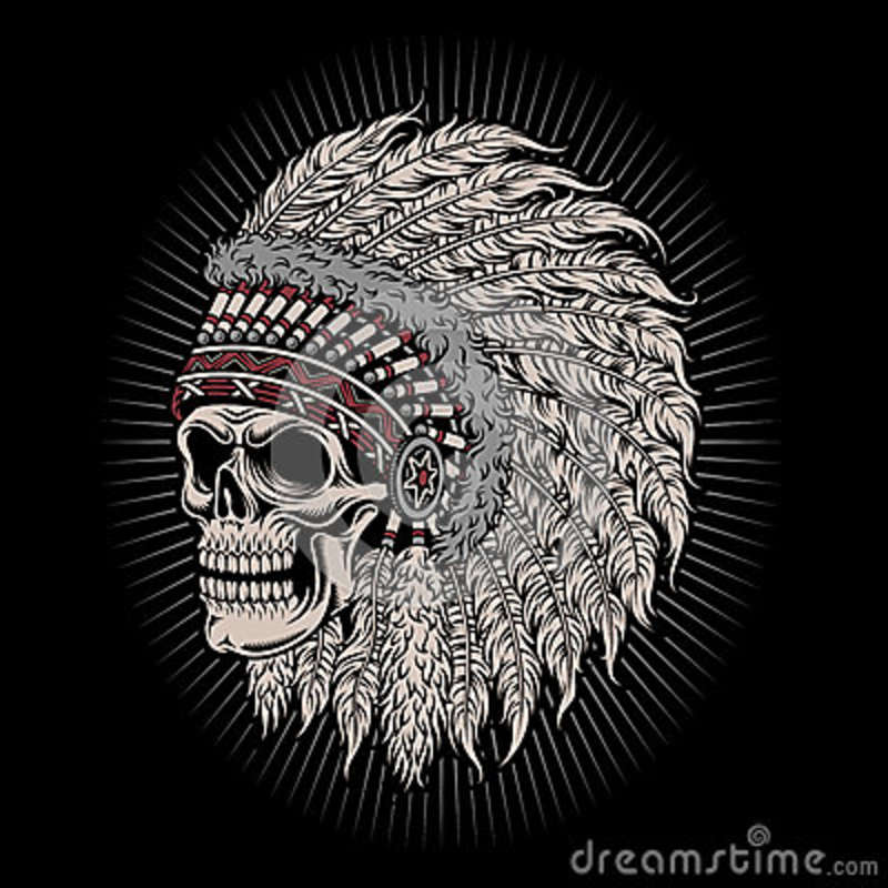298aaefba Native American Indian Chief Skull Stock Vector - Illustration of ...