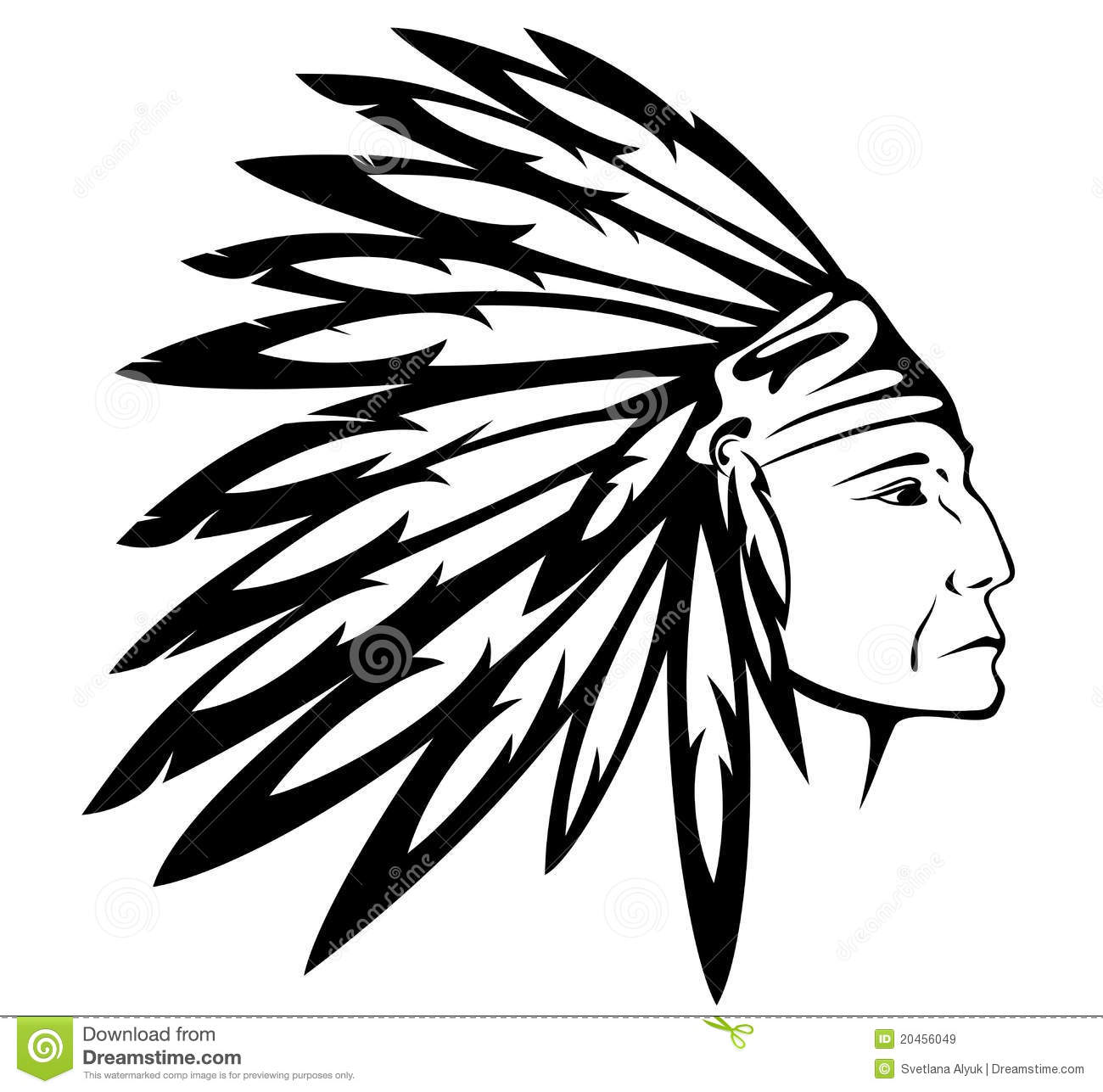 ... Indian Chief Vector Royalty Free Stock Images - Image: 20456049: www.dreamstime.com/royalty-free-stock-images-native-american-indian...