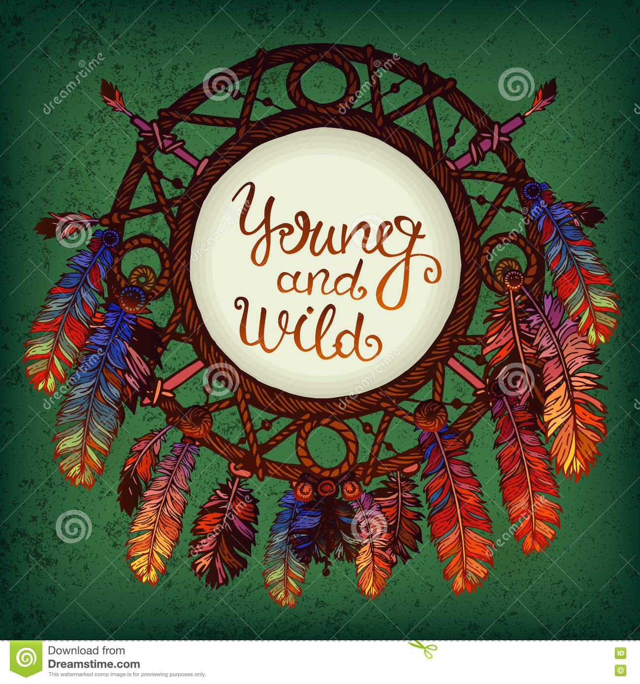 Native american indian dream catcher stock vector illustration native american indian dream catcher greeting isolated kristyandbryce Choice Image