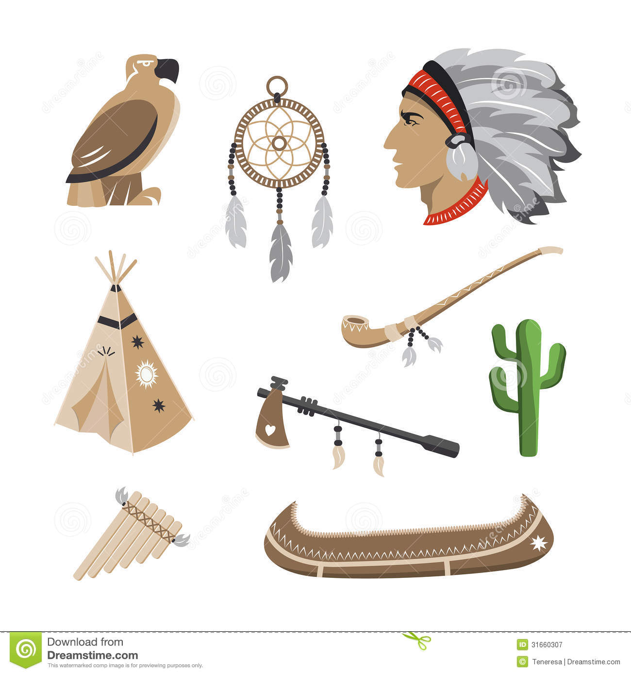 Native american indian icons stock vector illustration of mascot native american indian icons biocorpaavc