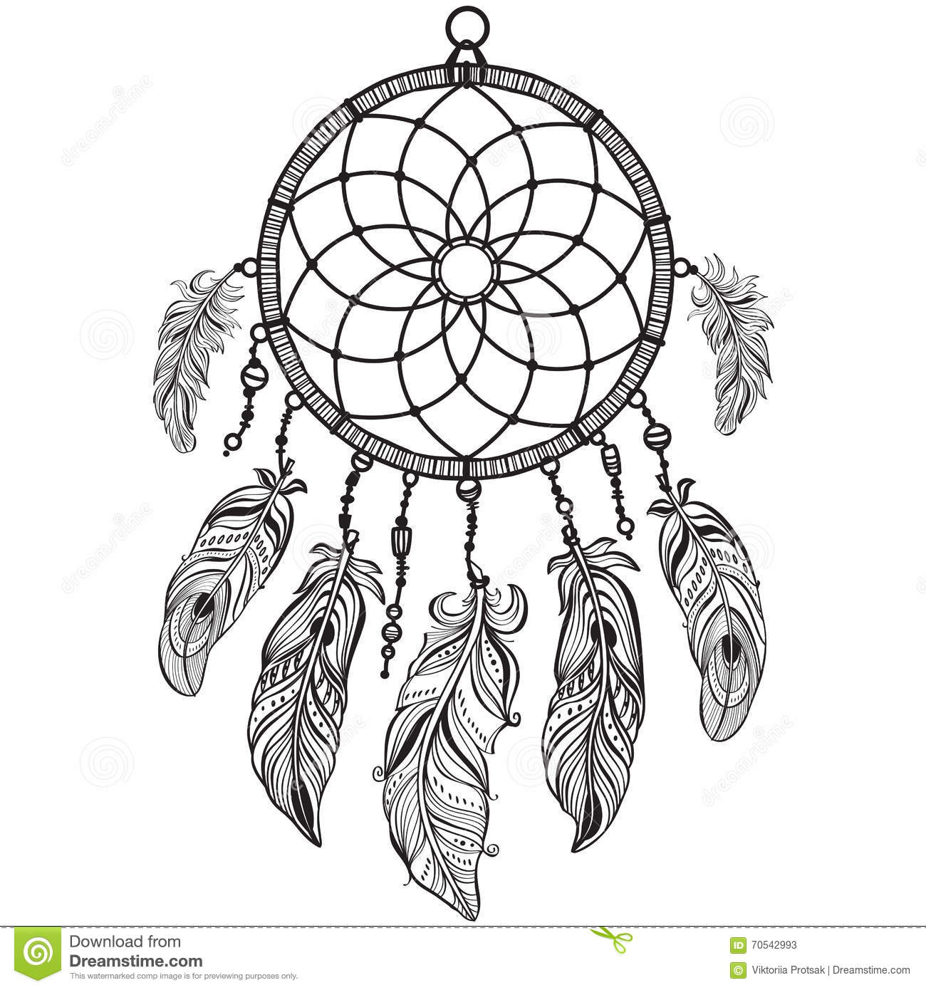 28299dbe9 Native American Indian Talisman Dreamcatcher Stock Vector ...
