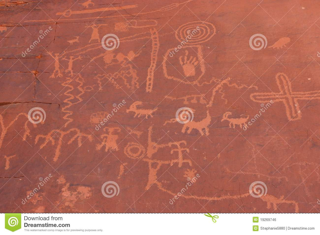 native american indian writing on rock stock photo - image of state