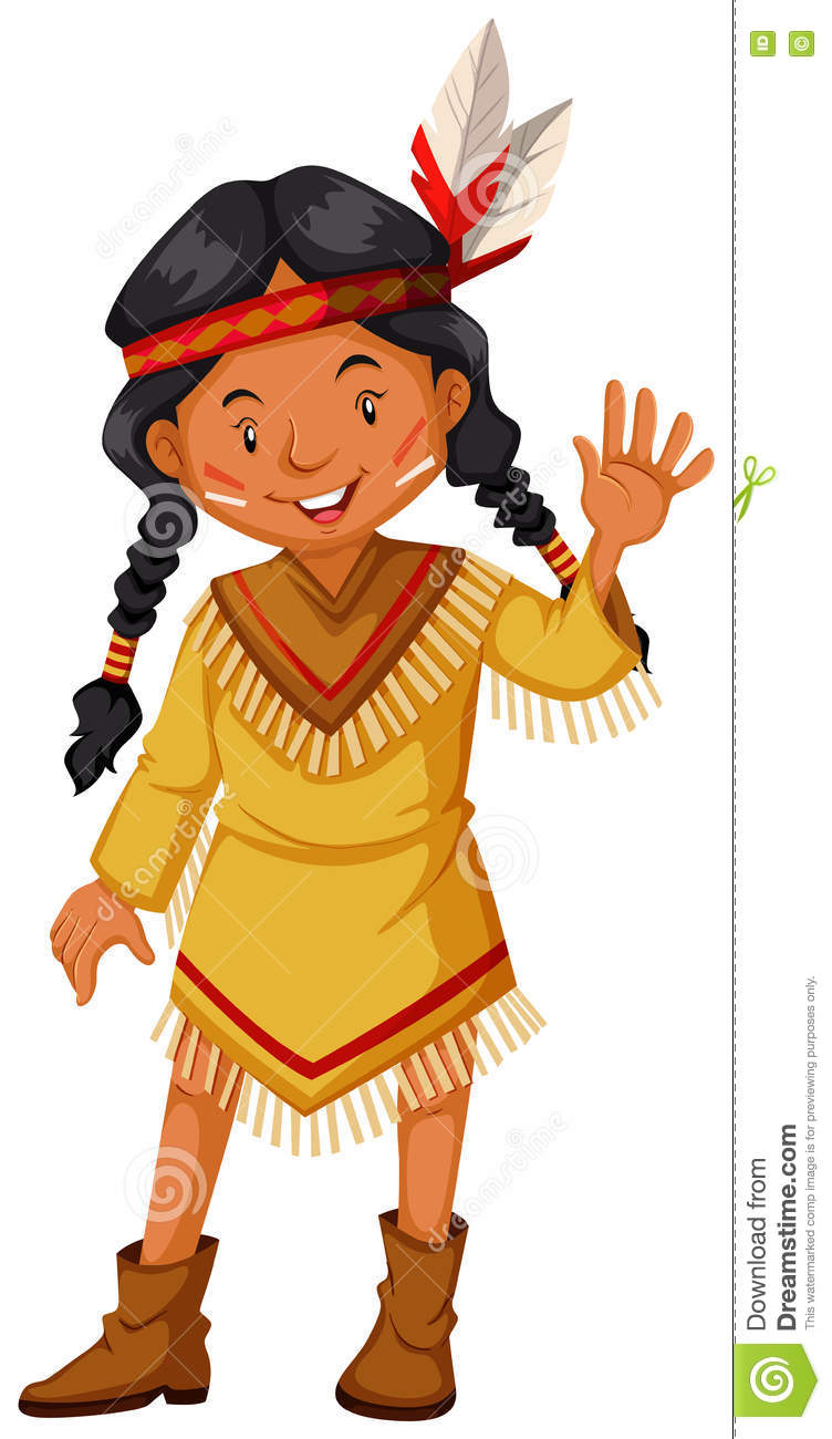 Native american indians greeting stock vector illustration of native american indians greeting kristyandbryce Choice Image