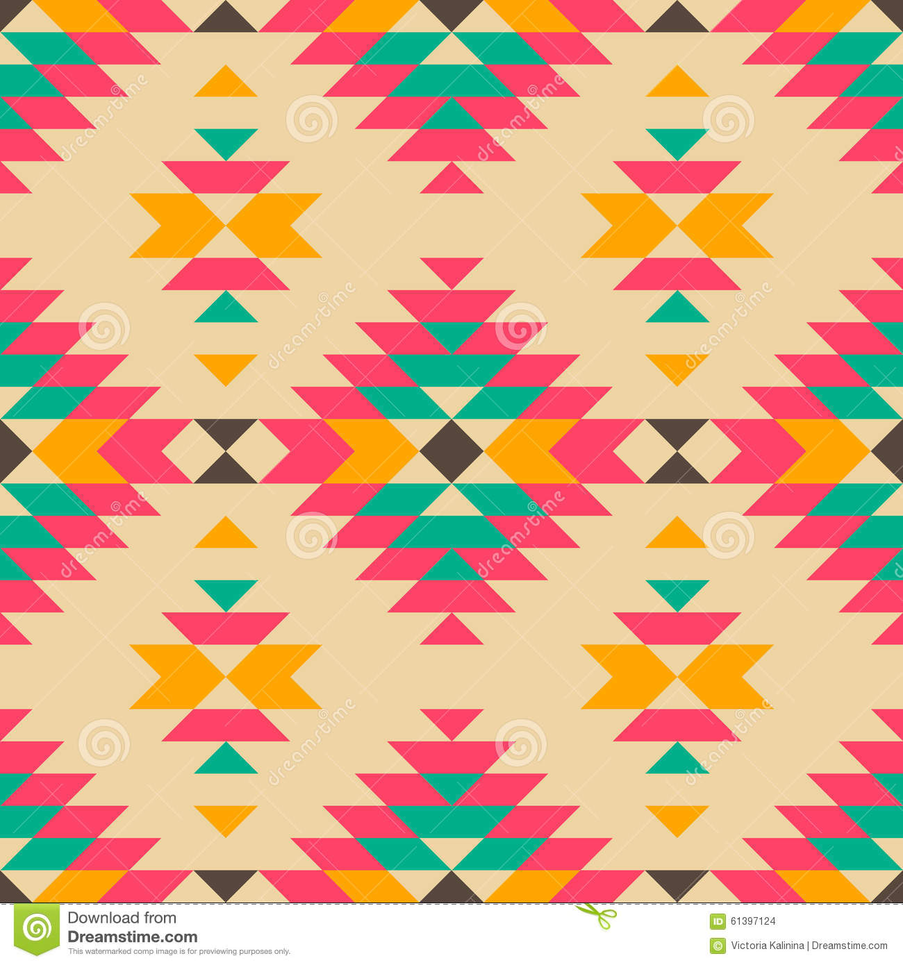 Native American Pattern Stock Vector - Image: 61397124